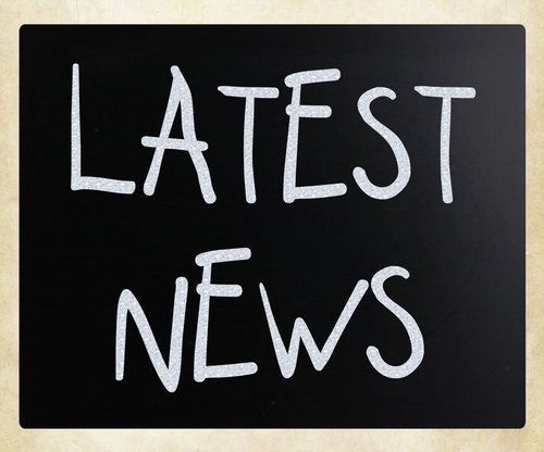 Blackboard with message Latest News