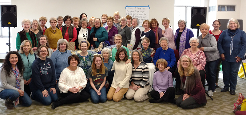 Group picture of ladies at retreat