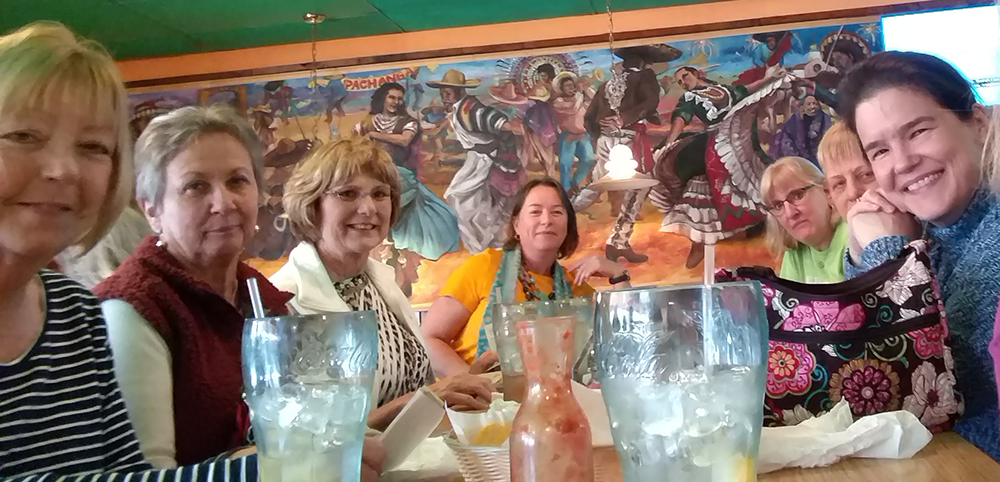 Group of ladies eating out